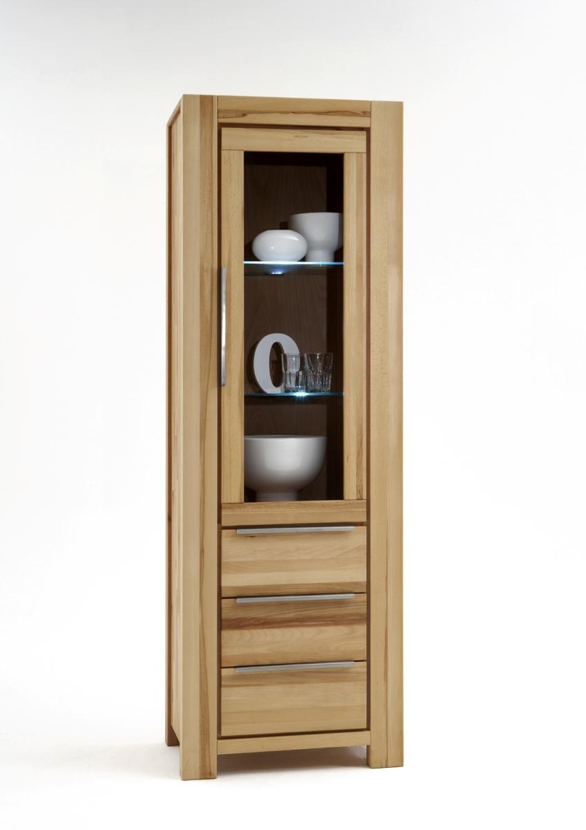 vitrine nala kernbuche massiv ge lt. Black Bedroom Furniture Sets. Home Design Ideas