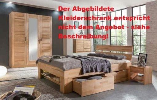 Sofie Mit Bett Cm Kleiderschrank Trg Kernbuche Massiv - Schlafzimmer kernbuche mabiv