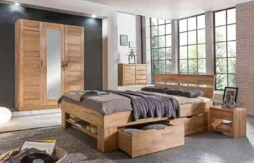 schlafzimmer sofie kernbuche massiv ge lt. Black Bedroom Furniture Sets. Home Design Ideas