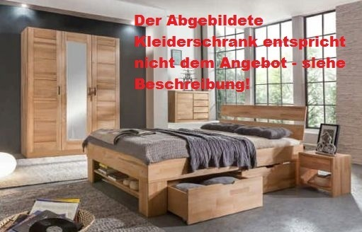 schlafzimmer sofie 3 180 mit bett 180 cm kleiderschrank 3. Black Bedroom Furniture Sets. Home Design Ideas