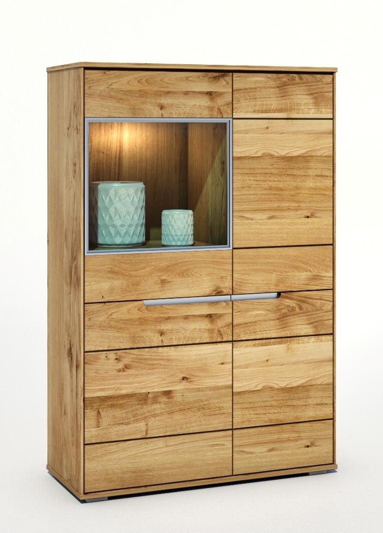vitrine liss wildeiche massiv ge lt. Black Bedroom Furniture Sets. Home Design Ideas