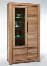 vitrine ii nala wildeiche massiv sonoma. Black Bedroom Furniture Sets. Home Design Ideas